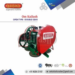 Sugar Cane Juicer Machine Om Kailash Open Type Double Gear