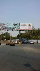 White Cantilever T Type Unipole 50ft Hoarding for Advertising