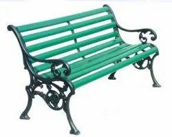 Cast Iron Wooden Garden Bench for Garden Resorts