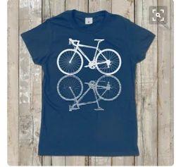 Punay Cotton Printed Round Neck T-Shirt