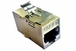 3c3 Cat6A Screened In line Coupler, Cable Mount, Contact Material: Steel