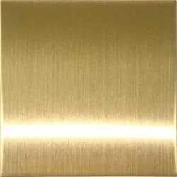 Gold Stainless Steel Hairline Sheet