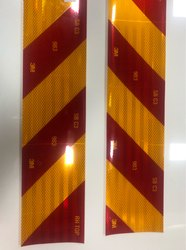 3M C3 C4 Rear Marking Plates Ais 089 Retro Reflective Yellow Red Patta