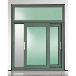 Powder Coated Grey (Frame) Aluminium Casement Sliding Glass Window, Size/Dimension: 4.5x3ft