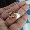 Pearl (Moti) Gemstone Copper Adjustable Ring