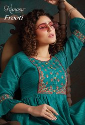Kanasa Frooti Rayon With Embroidery Kurtis Catalog