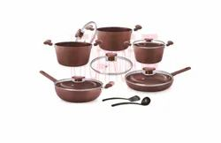 Cookware Set - 12 Pcs - Deluxe Chocolate