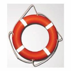红色聚氨酯救生圈,用于游泳,圆形