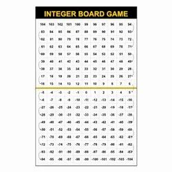 Integer Board Game - Math Board Game