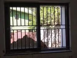 Iron 1 Code Red Oxide Window Grills, Rectangle, Sq, Material Grade: Size According