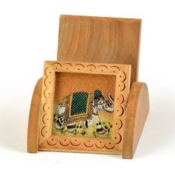 Multicolor Wooden Gemstone Mobile Stand