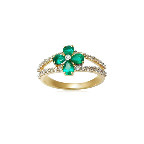 Anniversary And Party Women S Las Diamond Emerald Ring Magnificent