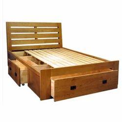 Maple Wood Storage Single Bed Warranty 2 Year Rs 18000 Piece