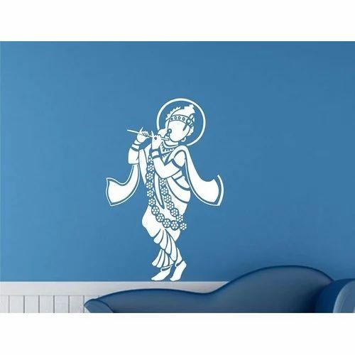 19c067f8d78 PVC Krishna Wall Sticker
