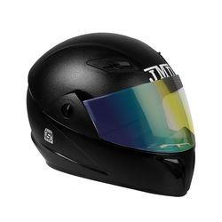 Trusty With Mirror Visor Black Helmet