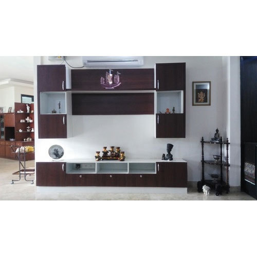 Brown 4 To 5 Feet Designer Tv Unit Max Tv Screen Size 50 59 Inch