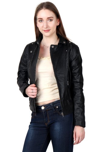 Black Leather Jackets For Women