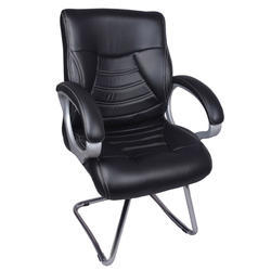 Century Black Visitor Chair With Fix Frame