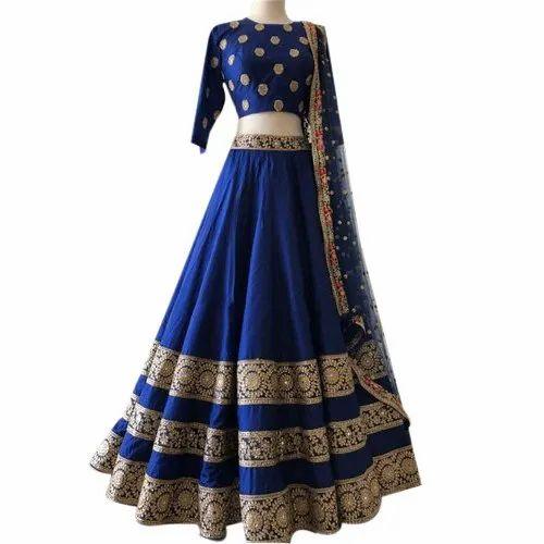 Taffeta silk lehenga choli for women