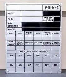 Trolley Name Plate