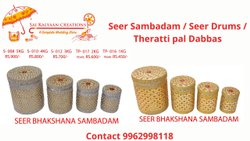 Decorative Steel Dabba Wedding Seer Sambadam, For Functional