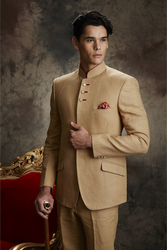 Cream Full Sleeve Jodhpuri Suit with Itlaian cut trouser