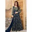 Embroidered Georgette Long Anarkali Dress