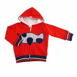 Red Printed Baby Hooded Jacket