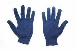 Knitted Cotton Hand Gloves Navy - Midas