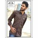 Mens Collar Neck Plain Fancy Shirt, Size: S-xl