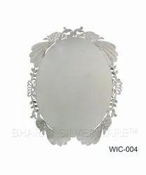 Pure Silver Peacock Wedding Card