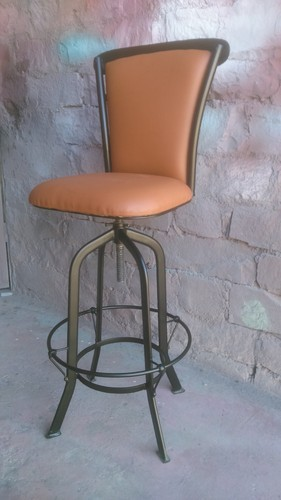 Vintage Iron Leather Bar Chair