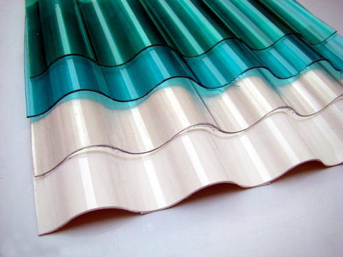 Color Coated Polycarbonate Roof Sheets, Thickness Of Sheet: 2mm