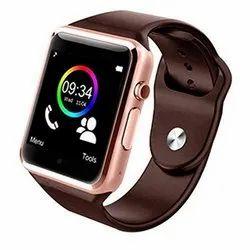Rectangular Gold A1 Smart Watch