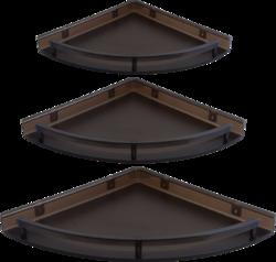 Brown, White Idoos Acrylic Corner Shelf, Packaging Type: Box