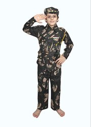Cotton Shri Kalaivani Military Costume, Age: 2 To 7, Small