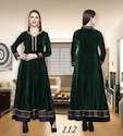 Ladies Velvet Anarkali Royal Flare Suits