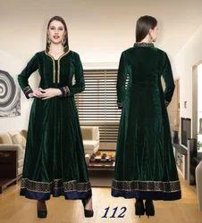 Ladies Velvet Anarkali Royal Flare Suits