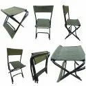 Folding Compact Portable Outdoor Camping Chair Cum Stool