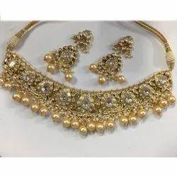 natural uncut Diamond Polki jadau Necklace Set