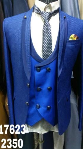 Mens Royal Blue 3 Piece Suit