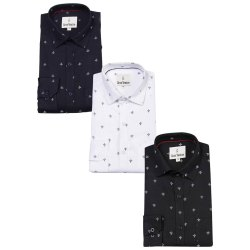 gros ventre Men Printed Cotton Shirt