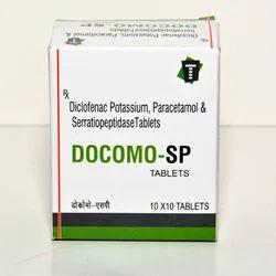 Diclofenac Potassium,Paracetamol & Serratiopeptidase Tablets