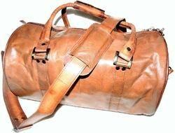 Goat Leather Organizer Gym Bag