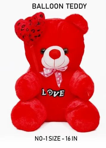 Red Color Love Teddy Bear Stuff Toys, टेडी बियर - Wales ...