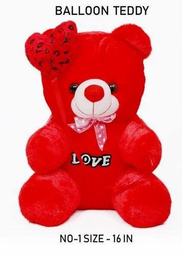 Red Color Love Teddy Bear Stuff Toys