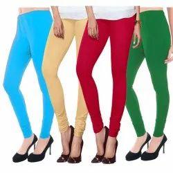 Plain Churidar Ladies Cotton Lycra Legging, Packaging Type: Packet
