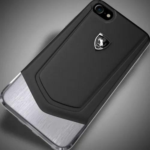 san francisco 04bba ad70e Ferrari Apple iPhone 7 Plus Moranello Series Luxurious Leather Metal ...