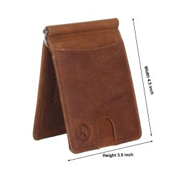 Genuine Leather Money Clipper-RFID Secured