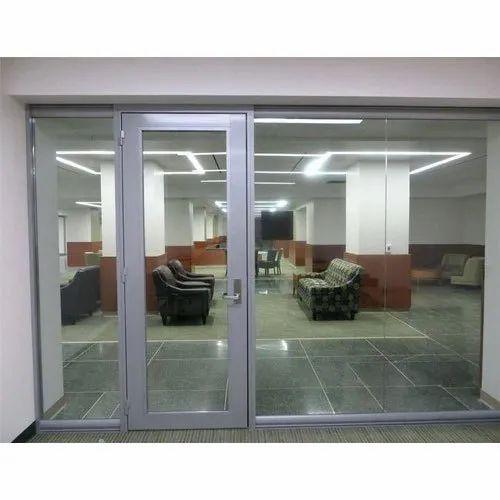 Rectangular Aluminum Frame Glass Door